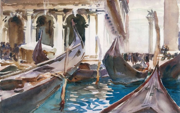 The Piazzetta, Venice circa 1904 by John Singer Sargent 1856-1925