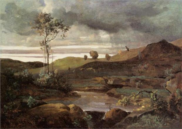 """The Roman Campagna in Winter"" by Camille Corot"