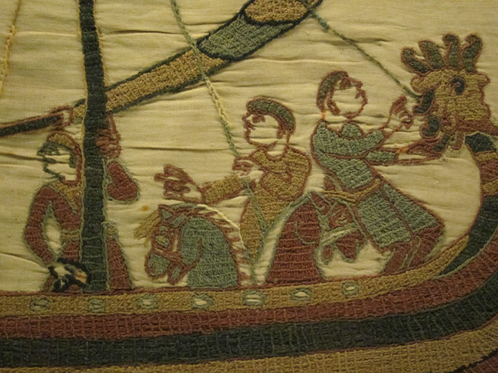 Bayeux tapestry horses close up