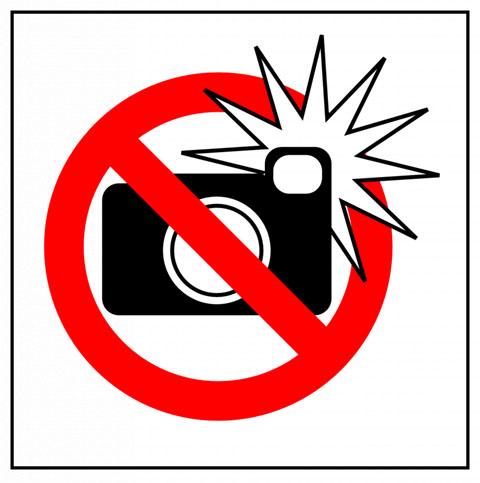 no flash sign