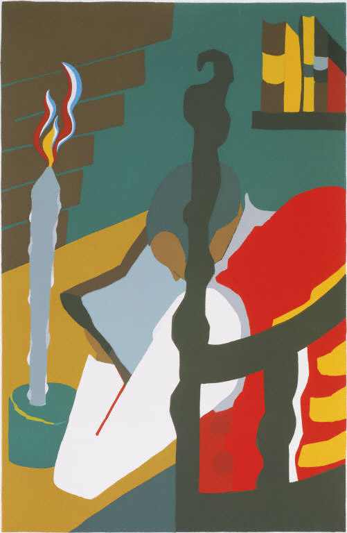"Jacob Lawrence ""Contemplation, from the Toussaint L'Ouverture series"""