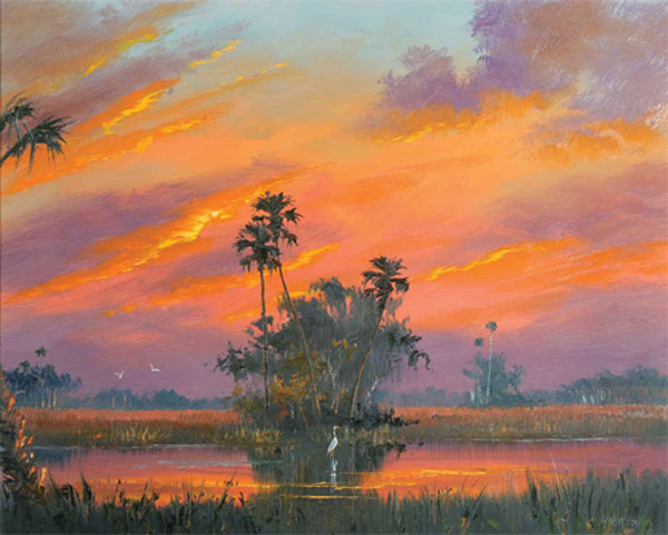 "Harold Newton ""Winter Sunset"""