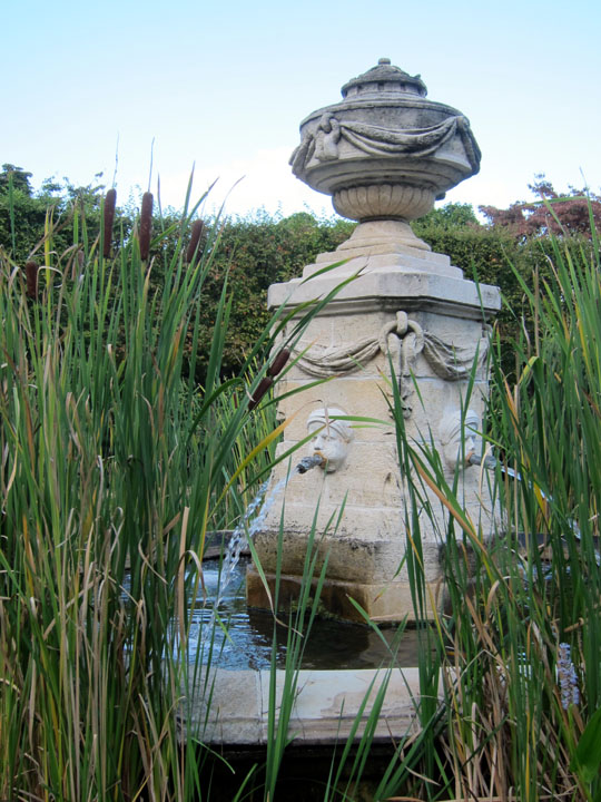 fountain, Dumbarton Oaks gardens