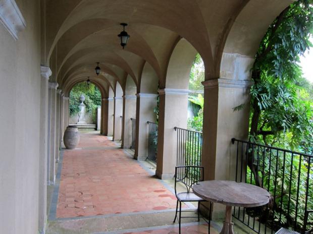 loggia, Dumbarton Oaks gardens