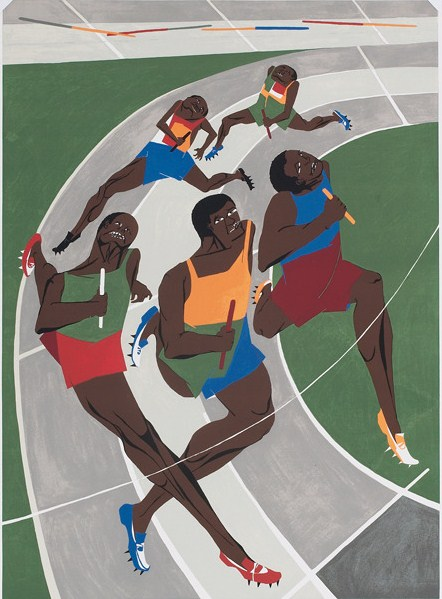 "Jacob Lawrence - ""Study for Munich Olympic Games"""