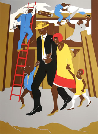 Jacob Lawrence - The Builders, The Family