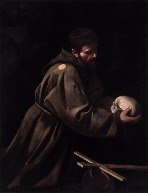 "Caravaggio - ""St Francis in Meditation"""