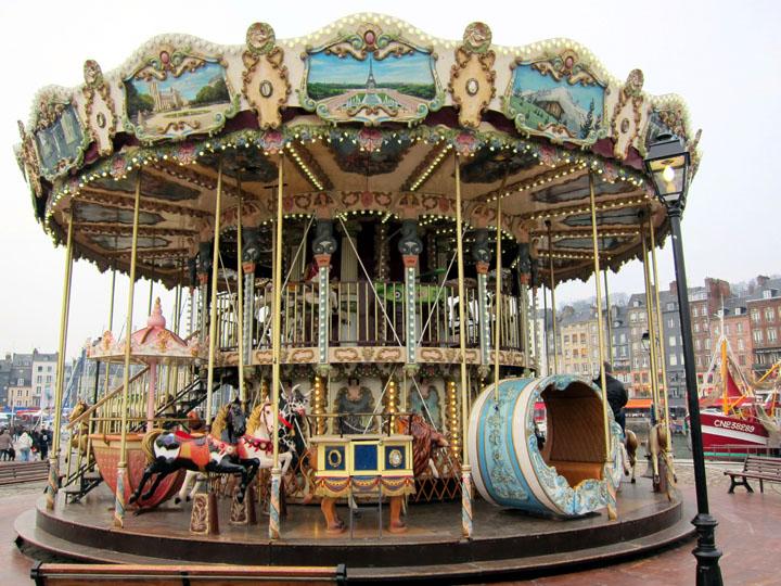 Honfleur's vintage carousel