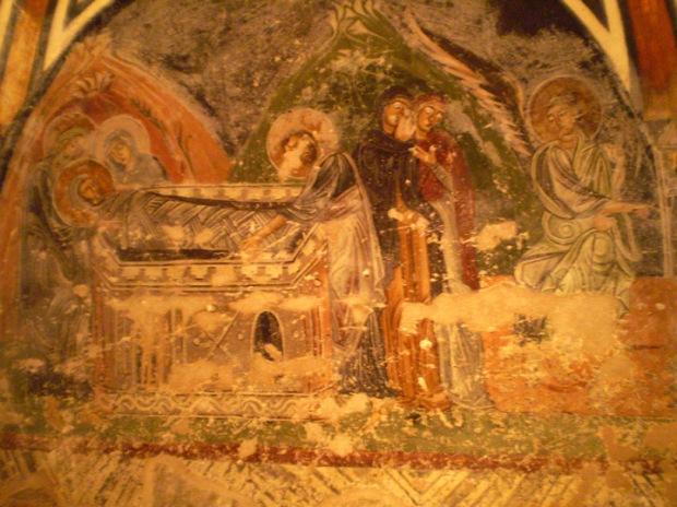 crypt fresco, entombment