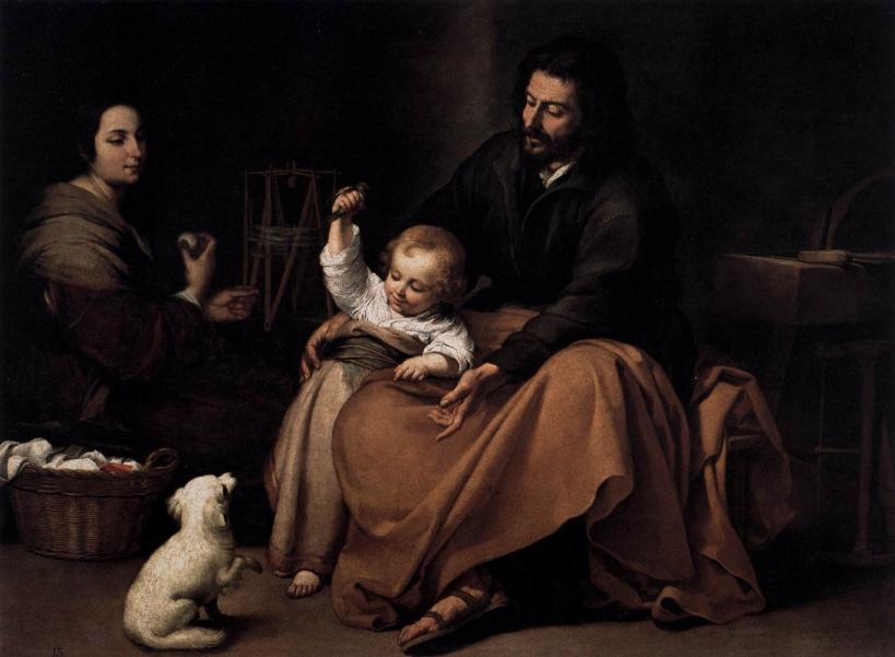 """Bartolomé Esteban Murillo - """"The Holy Family with a Bird"""","""