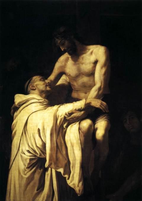 "Francisco Ribalta - ""Christ Embracing St Bernard"""