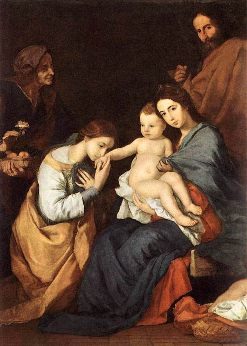 Jusepe de Ribera - The Holy Family with St Catherine