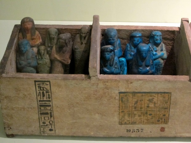Egyptian blue faience Ushabti