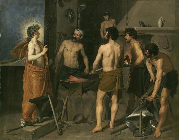"Diego Velázquez - ""Apollo in the Forge of Vulcan"""