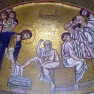 Byzantine mosaic - Jesus Washing the Disciples Feet