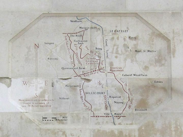 German Hindenburg Line Map