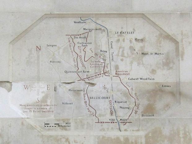 WW1 battle map