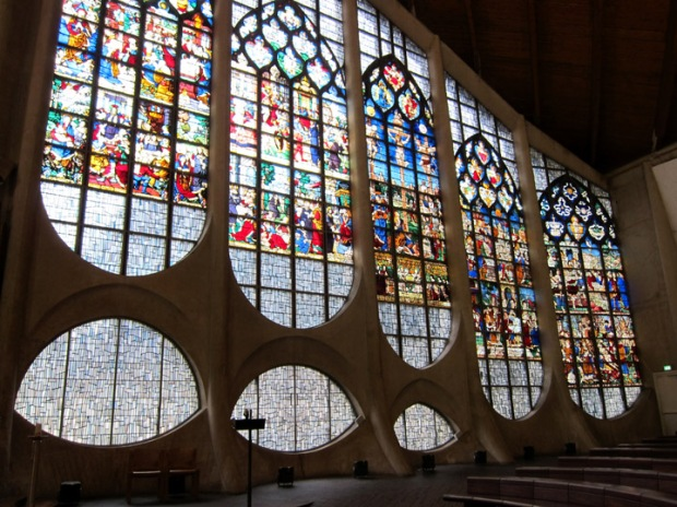 re-used stained glass windows