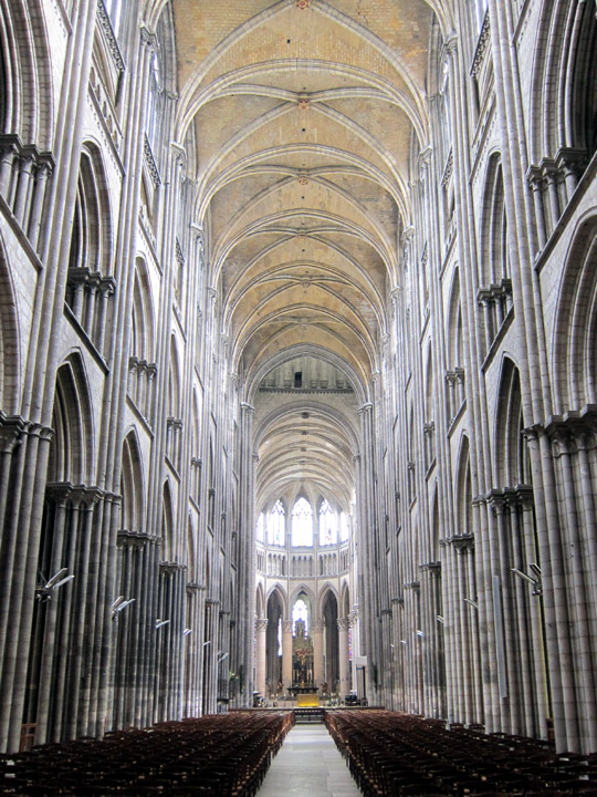 Main aisle of the Rouen Cathedral.