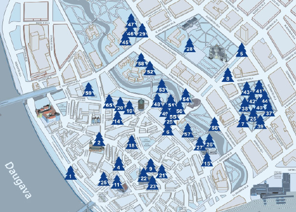 Riga Christmas tree map