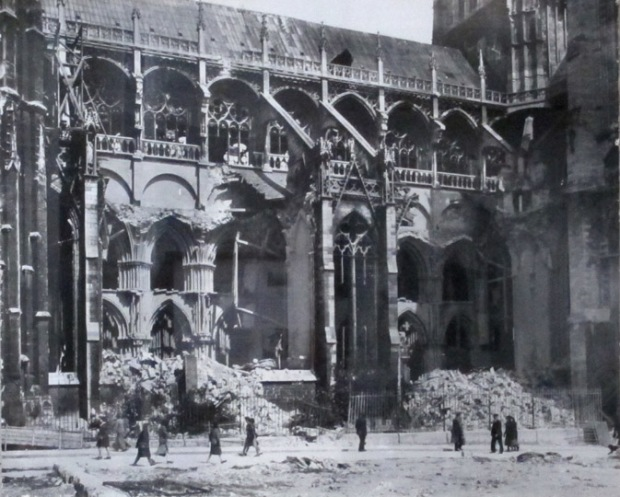 rouen cathedral world war II damage