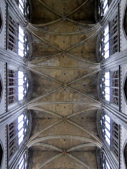 Rouen Cathedral Vaulting over the nave
