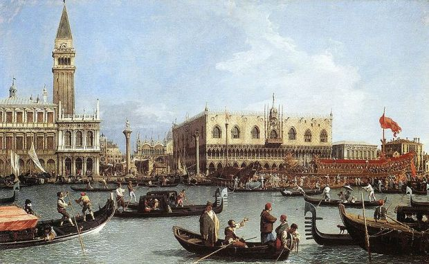 Canaletto - Return of the Bucentoro to the Molo on Ascension Day
