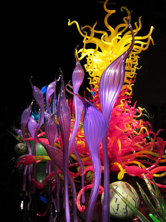 Layers in a sea of Chihuly glass