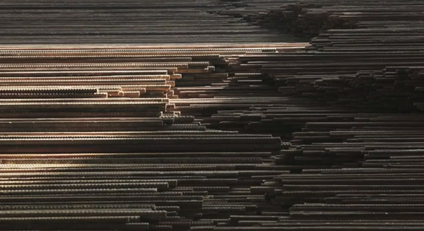 """Detail from Ai Weiwei's """"Straight"""" (Screen capture from the video above.)"""