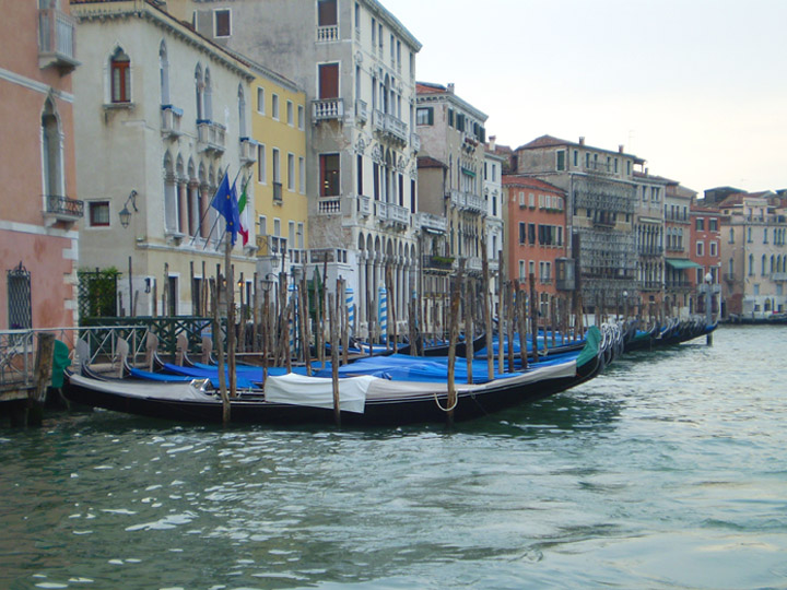View along the Grand Canal in Venice