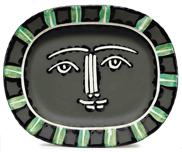 picasso grey face plate