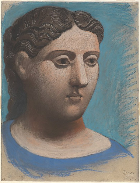 Picasso head of a woman