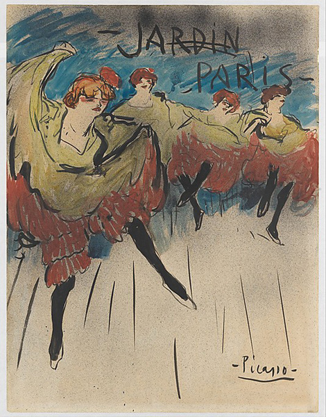 "picasso ""Jardin de Paris (Design for a Poster)"""