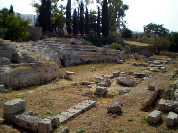 Small, unexcavated theater, Corinth