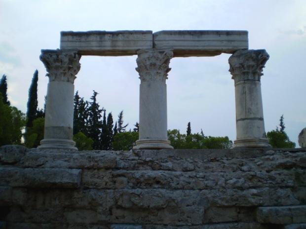 temple fragments, Corinth