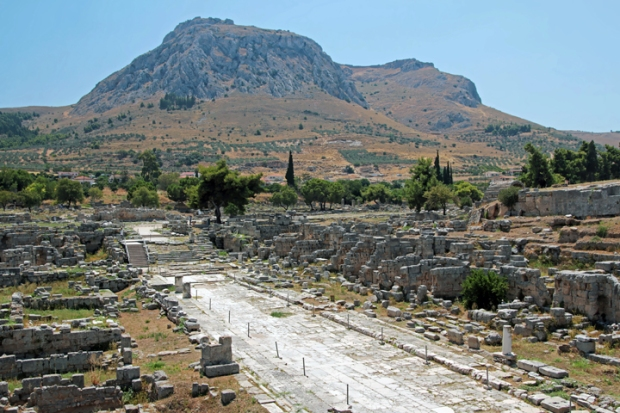 overview of market ancient Corinth