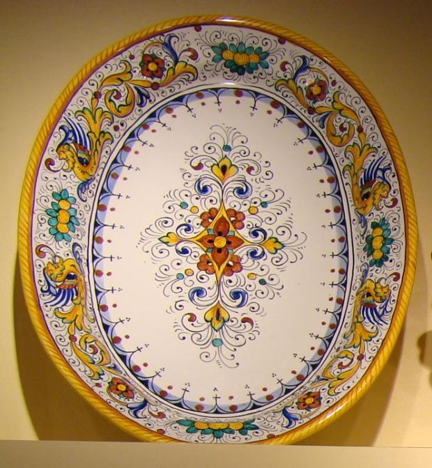 Italian Deruta Ceramic style platter