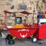 Israel drink cart, oranges and pomegranates
