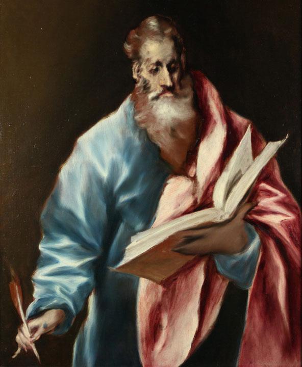 El Greco - St Matthew, Museo del Greco