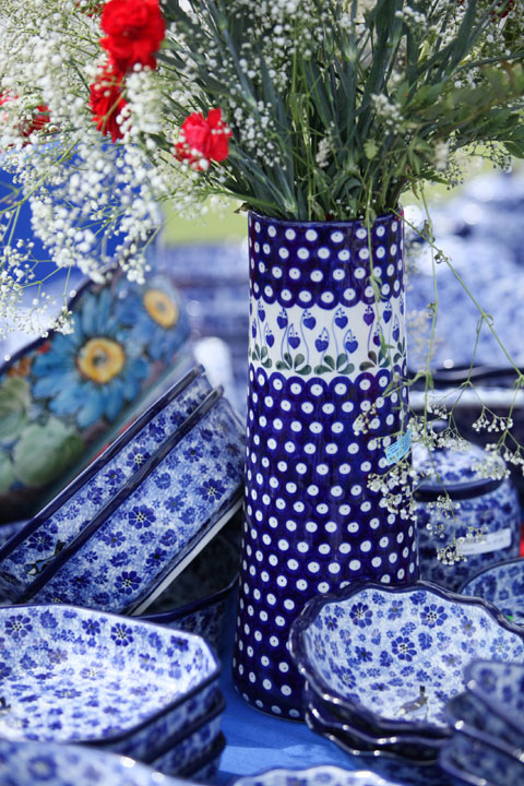 polish blue ceramics
