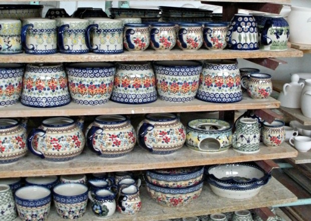 Poland ceramics with flowers