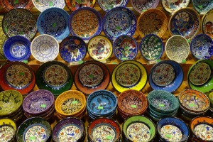 Bowls for sale in the Grand Bazaar, Istanbul, Turkey