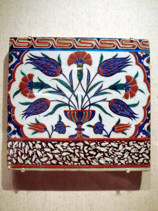 Turkey Iznik tile Tulip