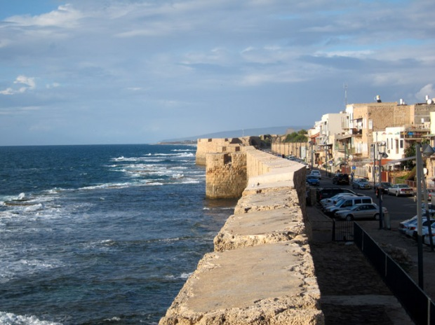 Akko ocean fortification from the Crusader era