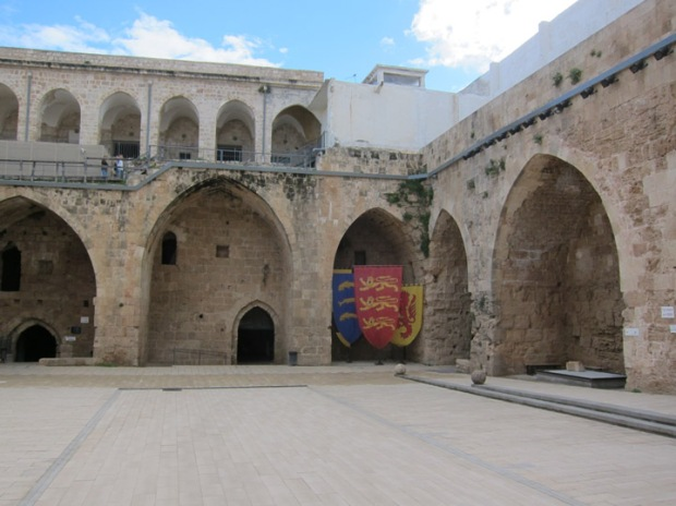 Akko Crusader Fort courtyard