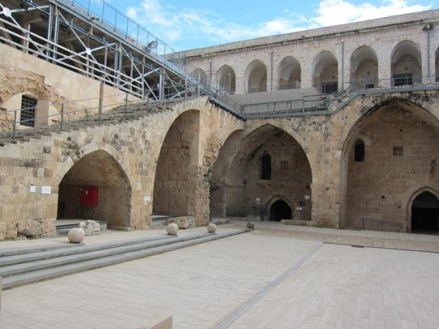 Akko Crusader Fort courtyard