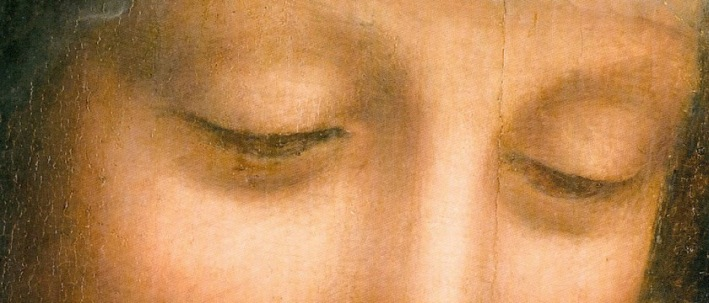 """Eyes of St. Anne from """"Virgin and Child with St. Anne"""""""