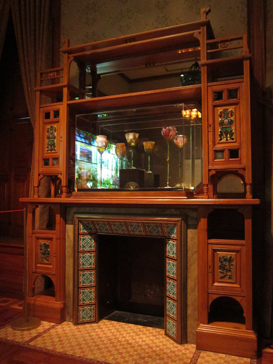 arts crafts fireplace, Driehaus Museum