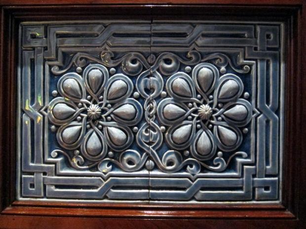 front tiles detail, Driehaus Museum
