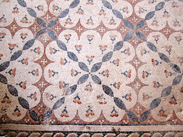 elaborate geometric floor